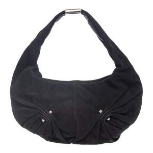 Yves Saint Laurent Black Suede Small Hobo