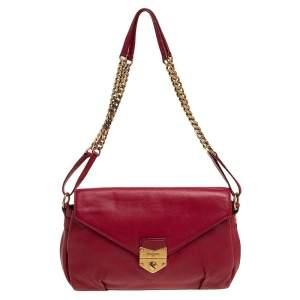 Yves Saint Laurent Red Leather Dandy Shoulder Bag