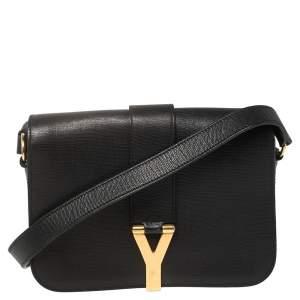 Yves Saint Laurent Black Leather Medium Chyc Flap Bag