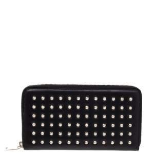 Saint Laurent Black Studded Leather Wallet