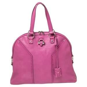 Yves Saint Laurent Bubble Gum Pink Leather Oversized Muse Bag