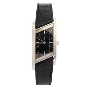 Yves Saint Laurent Black Stainless Steel Rive Gauche Women's Wristwatch 24 mm