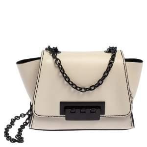 Zac Posen Cream Leather Small Eartha Crossbody Bag