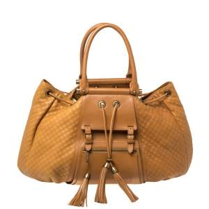 Zac Posen Tan Quilted Leather Beatrice Bag