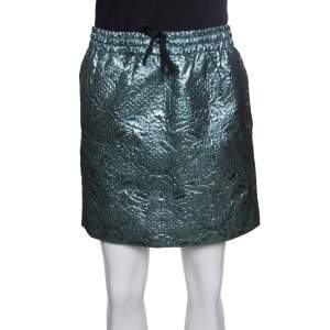 Zadig and Voltaire Deluxe Metallic Embossed Floral Jacquard Josa Skirt S