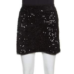 Zadig and Voltaire Black Sequined Jasmi Mini Skirt M