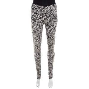 Zadig and Voltaire Monochrome Leopard Patterned Jacquard Pharell Leggings M