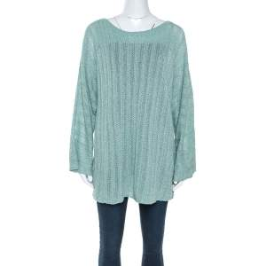 Zadig and Voltaire Mint Green Flint Pointelle Knit Crl Sweater L