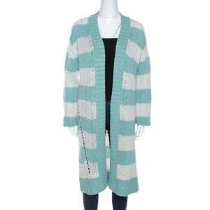Zadig and Voltaire Bicolor Striped Cashmere Romy Raye Deluxe Cardigan S