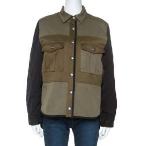 Zadig and Voltaire Green Cotton Timber Patch Jacket M