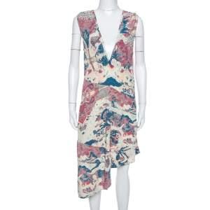 Zadig & Voltaire Ecru Root Printed Asymmetrical Dress XS