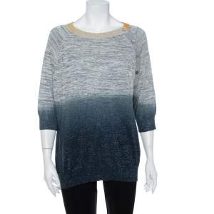 Zadig & Voltaire Ombre Lurex Rib Knit Just Sweater L