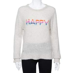 Zadig and Voltaire Grey Cashmere Delly Bis Sweater L