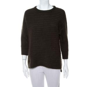 Zadig & Voltaire Dark Green Cashmere Athina Deluxe Sweater (One Size)