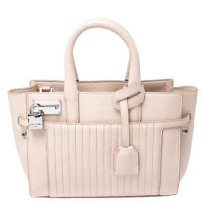 Zadig and Voltaire Blush Pink Leather XS Candide Tote