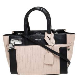 Zadig and Voltaire Beige/Black Leather XS Candide Tote