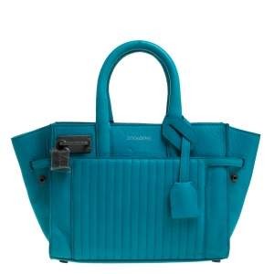 Zadig and Voltaire Blue Leather XS Candide Tote