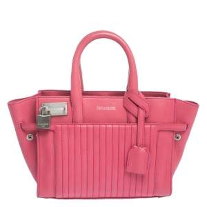 Zadig and Voltaire Pink Leather XS Candide Tote