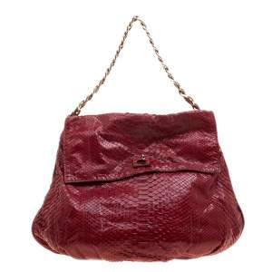 حقيبة زاغلياني قلاب ثعبان حمراء