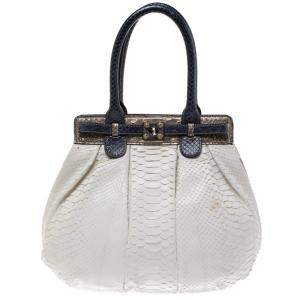 Zagliani Multicolor Python Small Puffy Bag