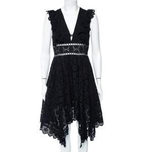 Zimmermann Black Eyelet Lace Divinity Wheel Day Dress M