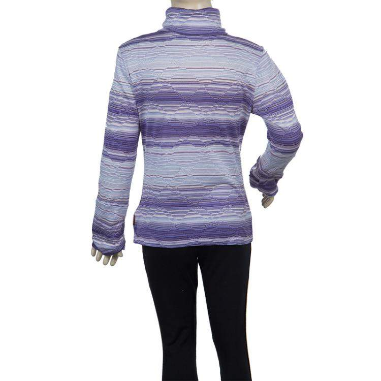 Missoni Purple Striped Long Sleeve Collared T-Shirt 10 Yrs