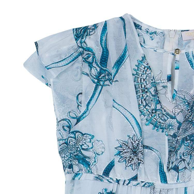 Roberto Cavalli Angels White Printed Tiered Maxi Dress 14 Yrs