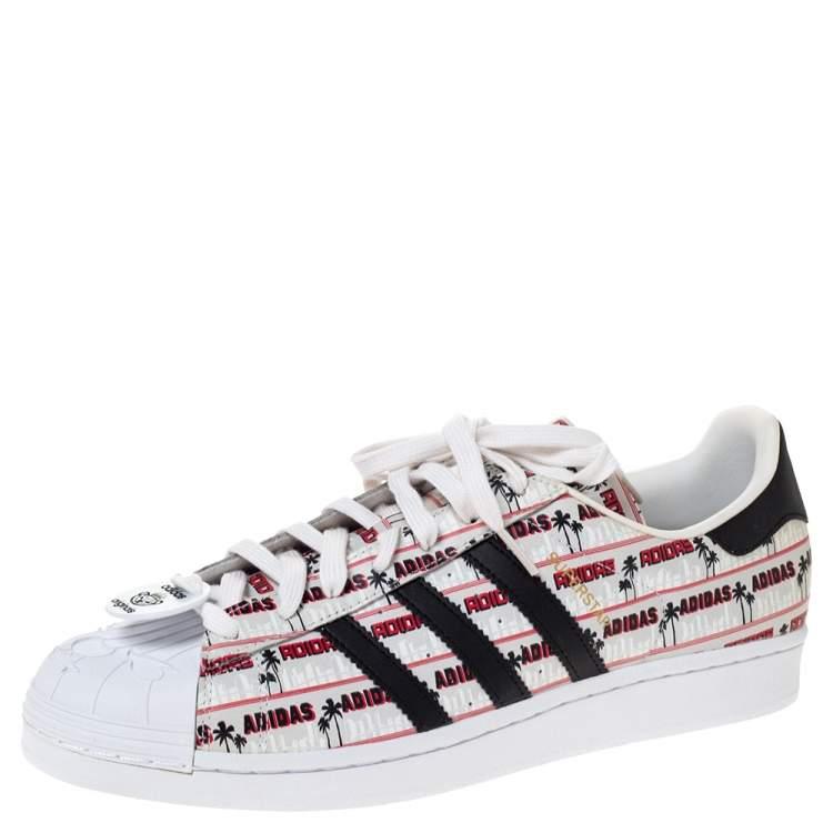 Adidas Multicolor Leather Superstar Nigo Bearfoot Sneakers Size 46 ...
