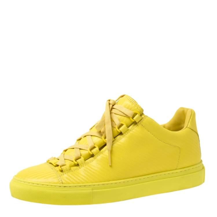 Balenciaga Yellow Neon Leather Arena