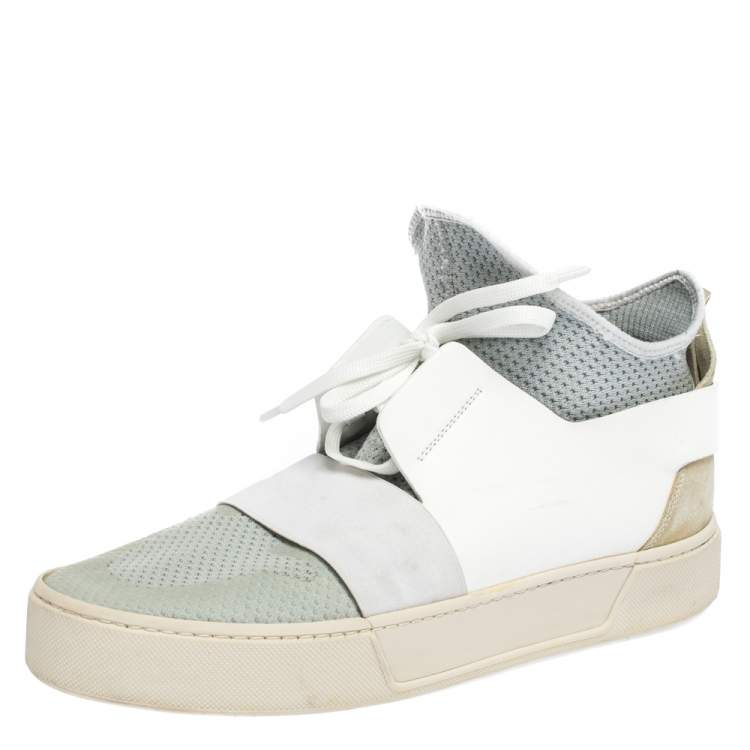 Leather Elastic High Sneakers Size 41