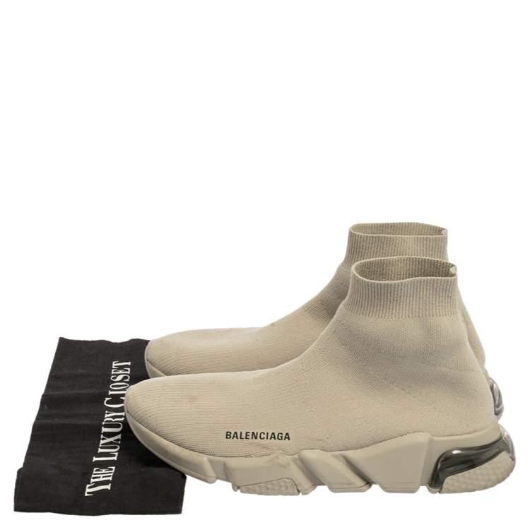 حذاء رياضي بالنسياغا سبيد قماش تريكو رصاصي مقاس 42