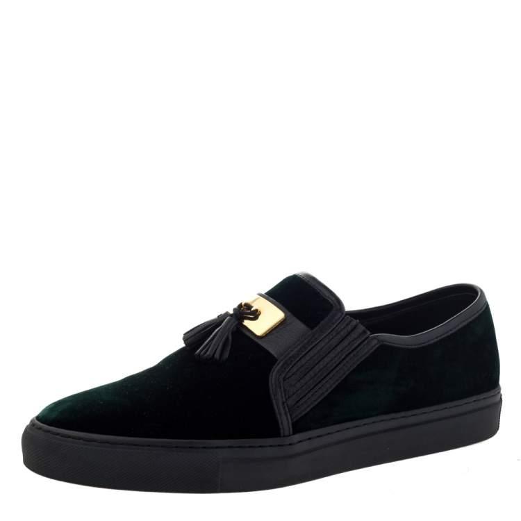 Leather Tassel Slip On Sneakers Size 39