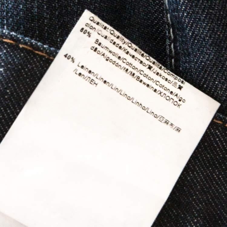 Boss by Hugo Boss Indigo Distressed Faded Effect Denim Jeans 3XL
