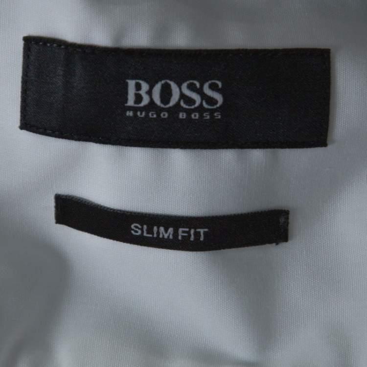 Boss by Hugo Boss White Cotton Slim Fit Juri Shirt L