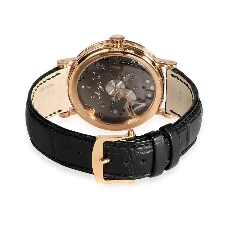 Breguet Grey 18K Rose Gold Tradition 7057BR/G9/9W6 Men's Wristwatch 40 MM