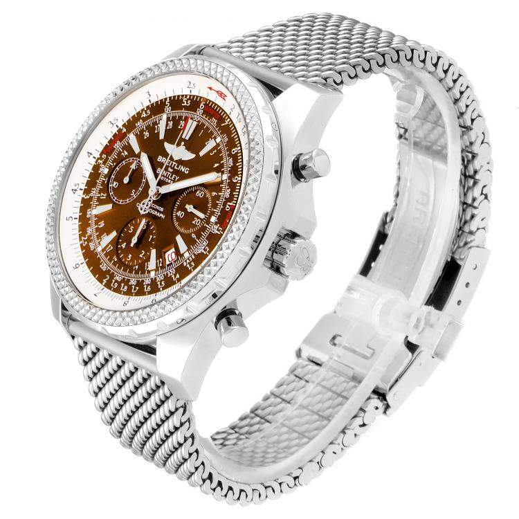 Breitling Bronze Stainless Steel Bentley Motors A25362 Men's Wristwatch 49MM