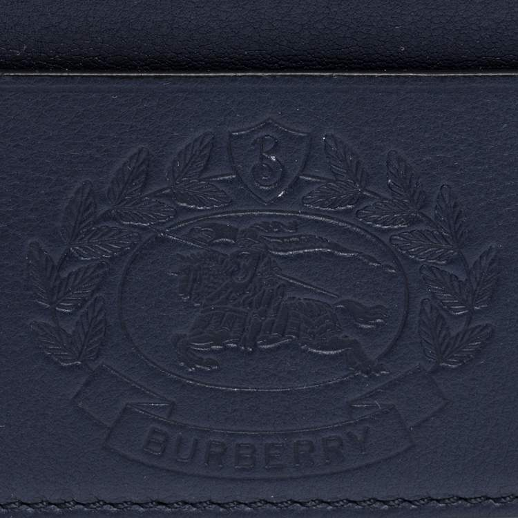 Burberry Navy Blue Leather Sandon Card Holder
