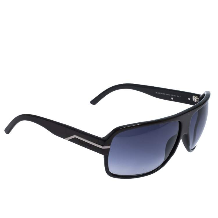 Dior Homme Brown/ Grey Gradient Black Tie 112S Rectangle Sunglasses