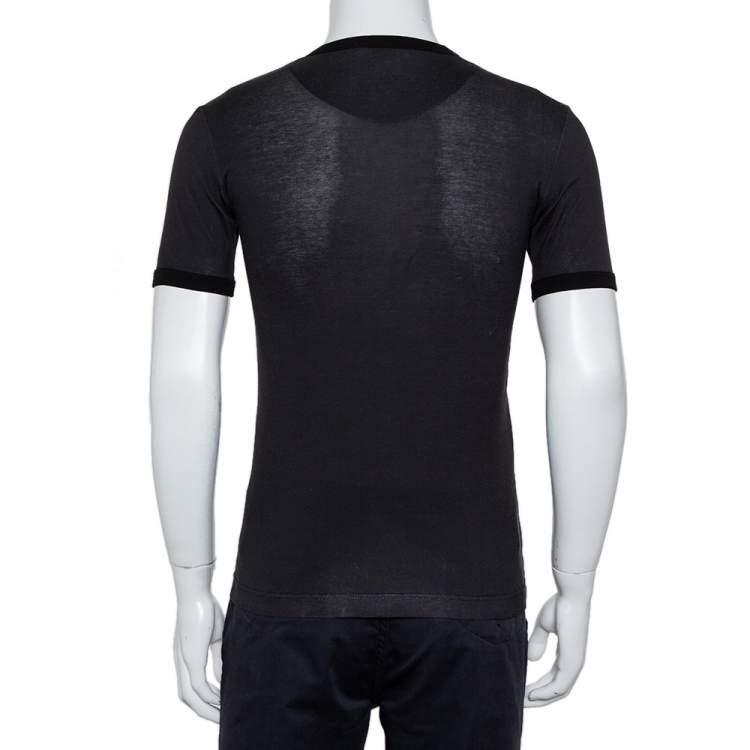 Dolce & Gabbana Black Sicilian Western Printed Cotton Crewneck T-Shirt XS