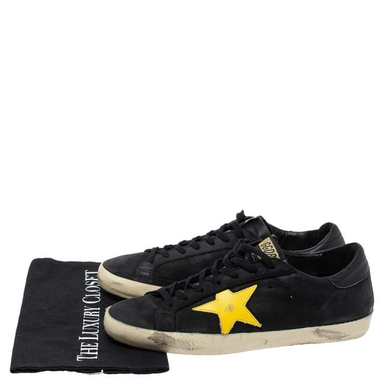 Yellow Leather Hi Star Sneakers Size 41