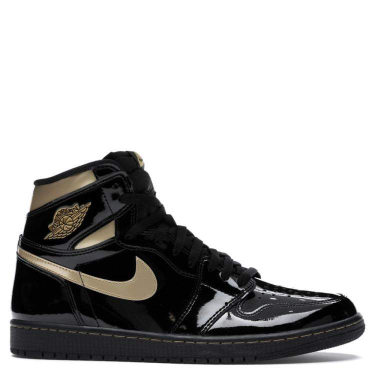 Nike Jordan 1 High Black Metallic Gold Sneakers Size EU 40 US 7 ...