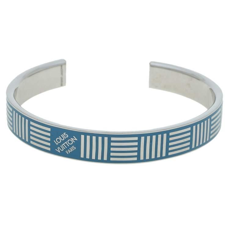 Louis Vuitton Damier Blue Cuff Bracelet