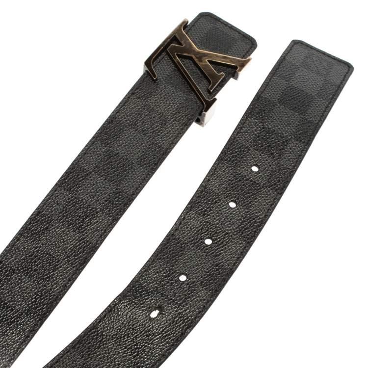 Louis Vuitton Damier Graphite Canvas LV Initiales Belt 110CM