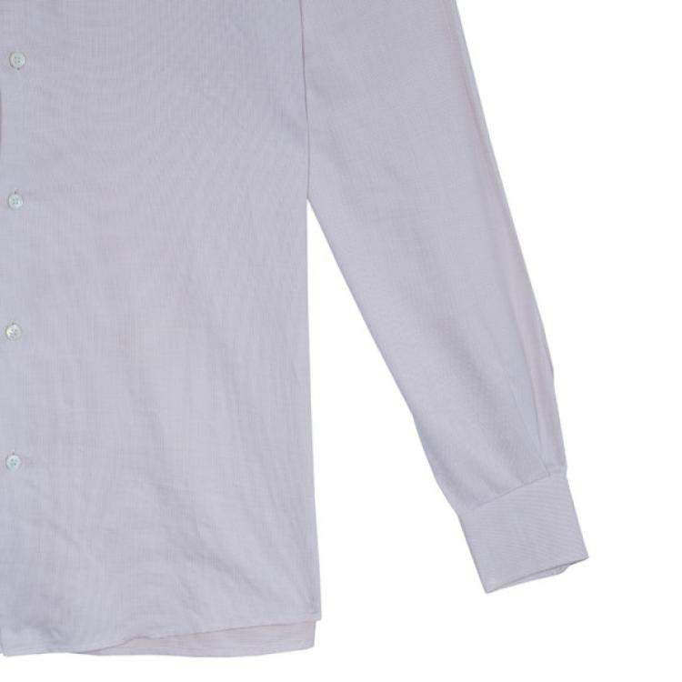 Louis Vuitton Rose Pink Cotton Button Down Shirt L