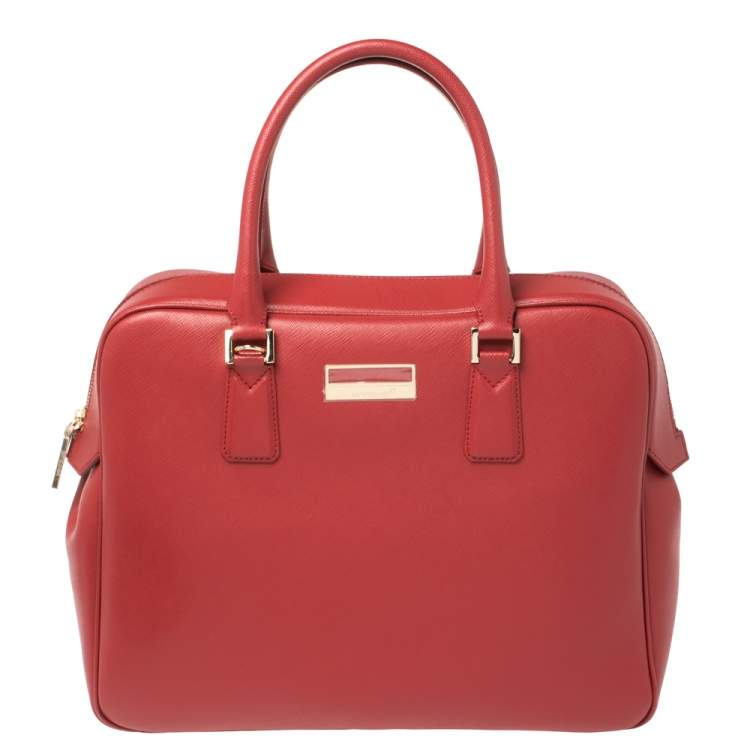 Montblanc Red Leather Sartorial Briefcase