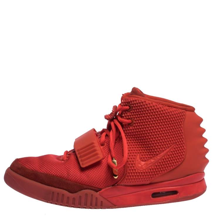 Nike Air Yeezy Red Suede, Nylon And