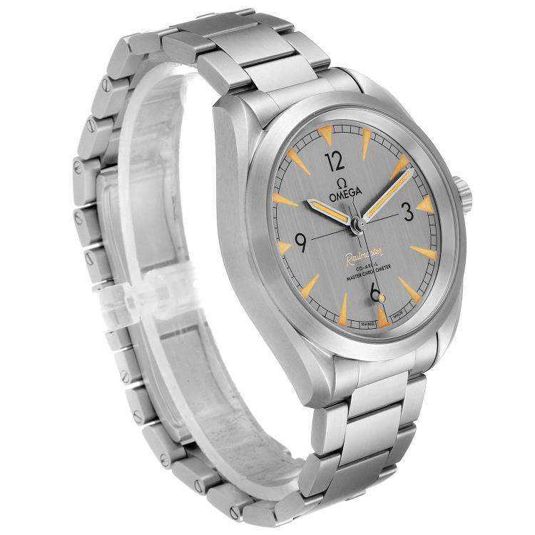 Omega Grey Stainless Steel Railmaster Chronometer 220.10.40.20.06.001 Men's Wristwatch 40 MM