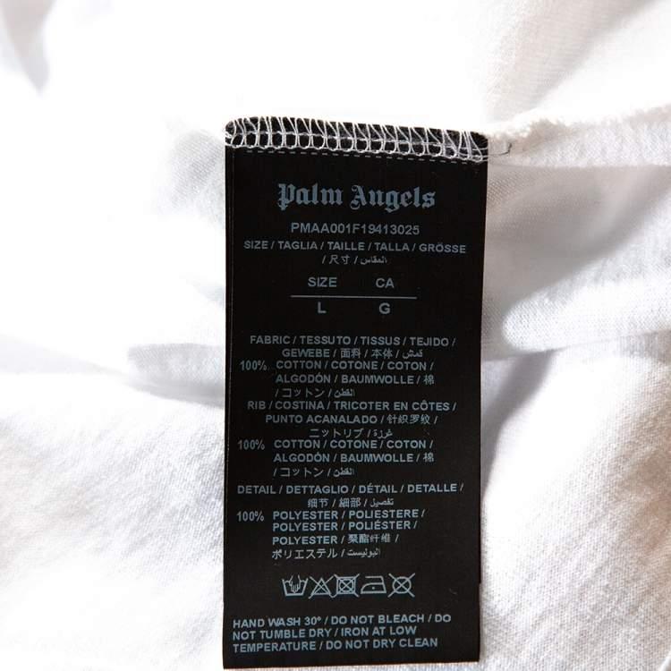 Palm Angels X Ice Cream White Skull Print Cotton T-Shirt L