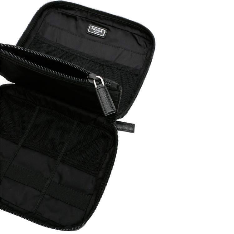 Prada Black Nylon Travel Pouch