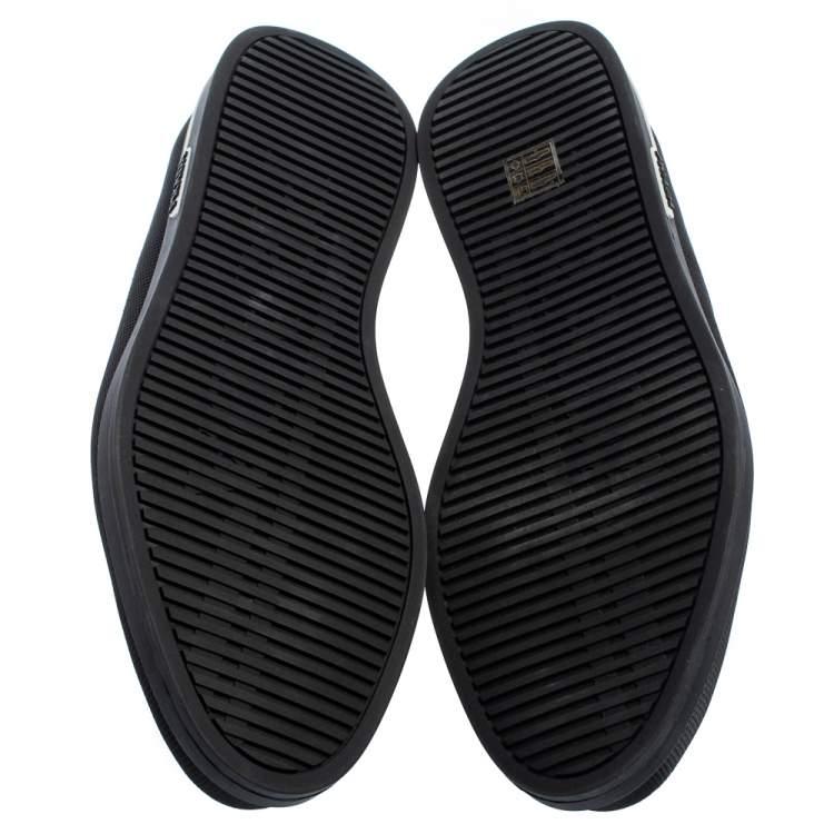 Prada Saint Tropez Black Leather Slip-On Sneakers Size 43